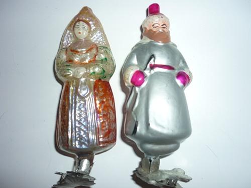 Старинные стеклянные игрушки