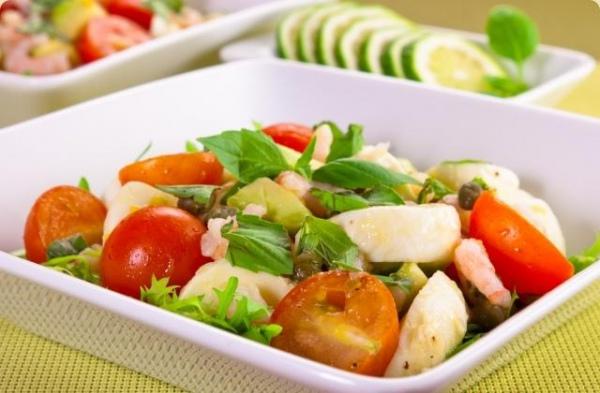 Теплый салат с зеленью